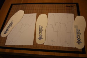Insoles that have been traced and measured